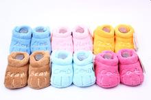 hermoso bebé zapatos niño unisex de algodón suela suave skid- a prueba de calzado infantil niños chica primera andadores, prewalker 0-12 11.5cm meses(China (Mainland))