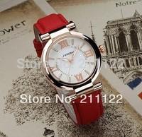 New arrival Women girl Rose golden Leather Quartz watches Sinobi brand top quality 9458