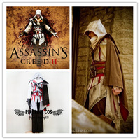 Assassin's Creed II Cosplay Ezio Cosplay Costume Suit - Any Size (Express Shipping).