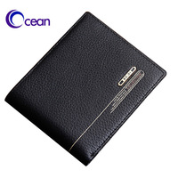 0186b short design male wallet genuine leather wallet first layer of cowhide free shipping