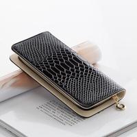2014 new women wallets Crocodile ladies purse female long design patent leather candy color fashion vintage zipper clutch wallet