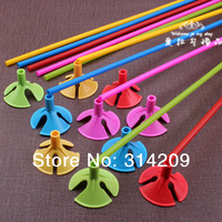 Free Shipping 50pcs/lot Plastic Balloon cup & stick Balloon Accessories Wedding Birthday Party Decoration