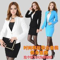 2014 spring and Autumn ol work wear women's blazer set fashion women's formal suit formal long-sleeve blazer with skirt @