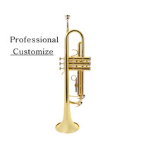 Copy BACH trumpet Bb electrophoresis gold Professional Performance Customize
