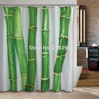 Curtain terylene cloth printed shower curtain 180X200cm 12 end of a single bamboo