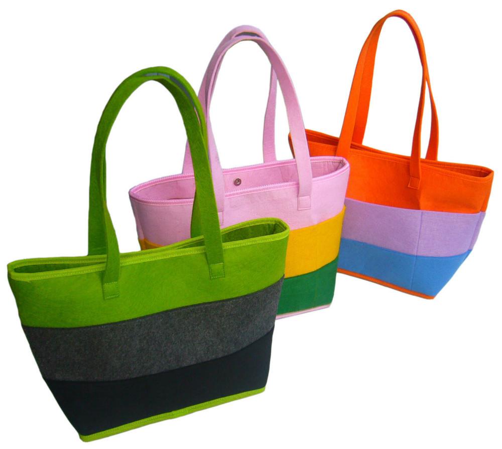 New fashion felt shopping tote bag(China (Mainland))