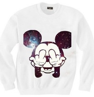 women's lovely printed sweatshirts galaxy pullovers 2014 New Fashion Mitch hoodies free shipping