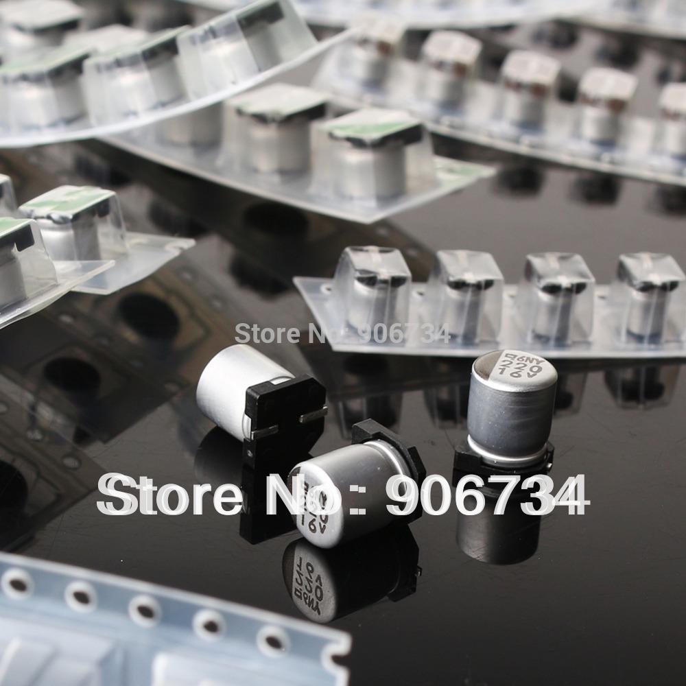 High Quality (1uF-220uF) 130pcs 13Value SMD Aluminum Electrolytic Capacitor Assorted Kit Set(China (Mainland))