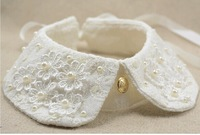 detachable beaded collar 2014 new fake false collar shirt lace peter pan collars women collares for sweater decoration