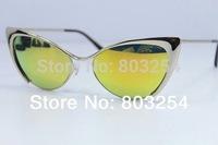 Free Shipping  2014 new coating sunglass wholesale  Eyewear fashion glasses women sunglasses mirror UV400 Protection