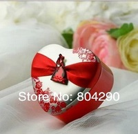 New arrival Fashion Heart Shaped Candy tin Box wedding gift box