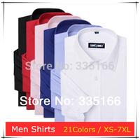 New Arrival Men Dress Shirts 21Colors XS--7XL Plus Size,   Slim Long Sleeve Stripe Business/Leisure/Office Shirt   #JM09534