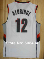 Rip City Portland #12 Lamarcus Aldridge Embroidery Lgos Wholesale 2014 New Authentic Mens Basketball Jerseys High Quality Jersey