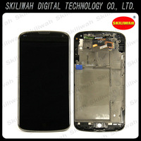 Free shipping 100% Guarantee For LG Optimus E960 Google Nexus 4 LCD Screen With Touch Screen Digitizer + Frame LCD Assembly