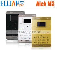 Original AIEK M3 Mini Ultra-thin Pocket Card phones Touch mobile phone 0.96 inch Bluetooth MP3 FM Russian