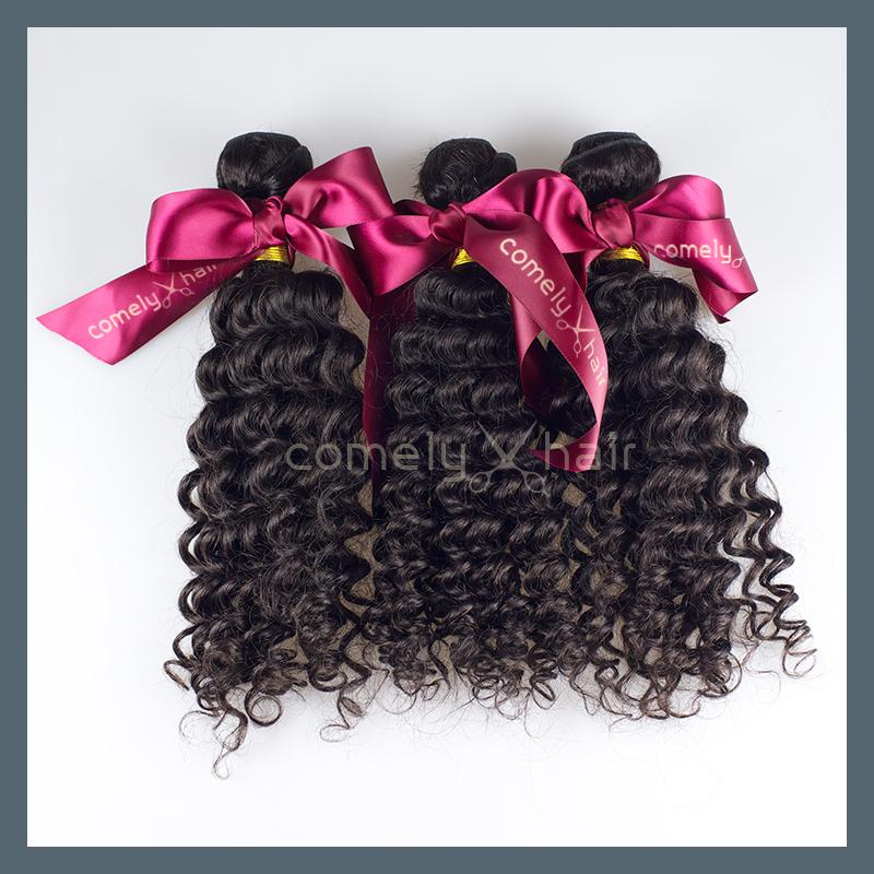100% non trasformati 4 molto pc peruviana vergine estensione dei capelli ricci tesse capello umano spedizione gratuita