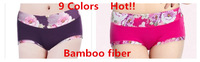 3pcs/lot 2014 nEW sexy women  bamboo fiber briefs modal woman  shorts ladies underwear 9 colors lingerie