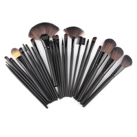 Professional 24 Makeup Brush Set tools Make-up Toiletry Kit Wool Brand Make Up Brush Set Case,Brand Brushes