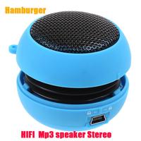 Hamburger HIFI Mini USB MP3 Player Speaker Amplifier  Acoustics Subwoofe Speaker Music Player Amplifier dynamic loudspeaker