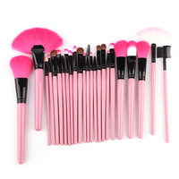 Pink Makeup Brushes Set & Kits Professional 24pcs Makeup Brush Set Makeup Tools Cosmetics Facial Brushes For Makeup 2014 new