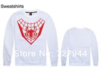 2014 New arrival Spiderman Sweatshirts mens high quality hip hop sweaters cheap  long sleeve O neck  sweatshirt Free shipping