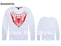 2014 New arrival Spiderman Sweatshirts mens high quality hip hop sweaters cheap  long sleeve O neck  sweatshirt Free shipping