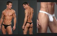 (2pcs/lot) N2N  Mens Pouch Thong Cotton Lycra Penis Shealth Bikini G string Sexy Underwear for Men thongs