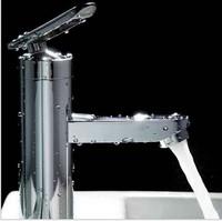 Mixer Tap Single-arch Single Lever Faucet Bathroom Mount Bathroom basin Faucet 1001 Free shipping