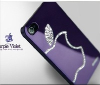 2014 the cheapest wholesales orginal Luxury Swarovski Bling Diamond Cover Case fit for iPhone5 5S Free shipping
