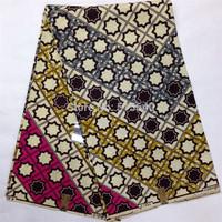 2014 New Fashion African Fabric Real Wax Super woodin wax Prints 100% Cotton Fabric Textile 6 YardsAmy4987-17