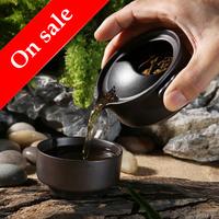 Purple Clay a pot a Cup, fit teapot, Kung Fu tea set, travel tea sets, teapot and teacup, 2 colours optional~