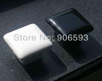 50pcs lot free shipping Porcelain glaze square cabinet handle\porcelain handle\porcelain knob\drawer knob