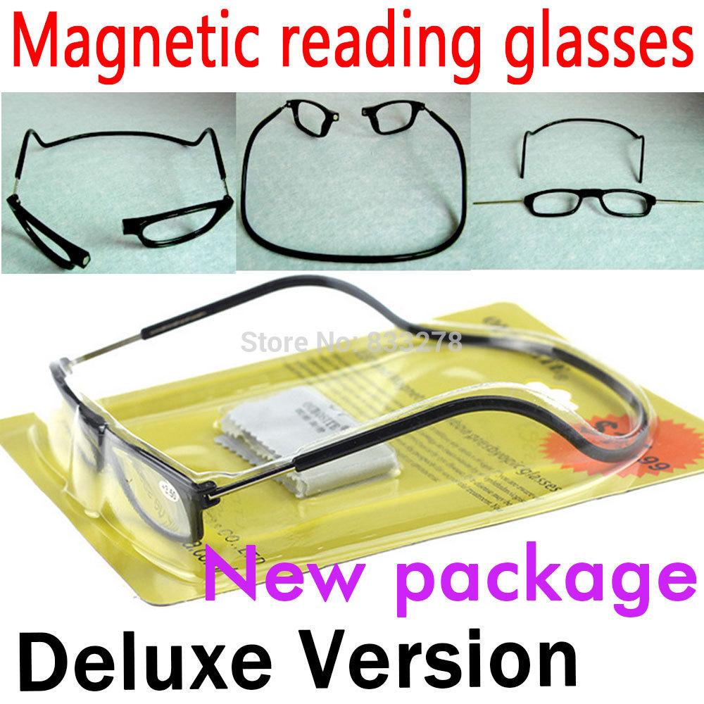 hot sale Adjustable Front Connect Readers unisex reading glasses magnetic fashion men women's brand design reading eyeglasses(China (Mainland))