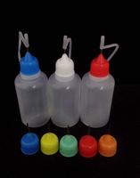 Wholesale 200/Pcs Empty Metal Needle Bottle LDPE 30ML Plastic Needle Bottles With Screw Metal Needle Cap Liquid Free Shipping