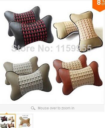car headrest neck pillow neck by summer viscose linen car supplies accessories Car pillow Car seat covers auto supplies(China (Mainland))