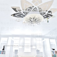 New 2014 Larger Restaurant Ceiling Bedroom Decor Wall Home Decoration Mirror Surface 3D Wall Stickers W23
