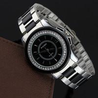 Fashion Women Rhinestone Watches Quartz Wristwatch Women Dress Watch with Stainless Steel Strap Lady Bracelets & Bangles.