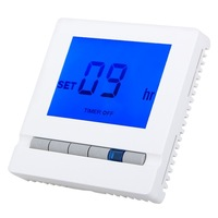 New Floureon Digital Floor Heating Thermostat Blue Backlight LCD 16A Room Temperature Controller with 3M Sensor Cable