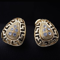 2014 Mixed Order Free shipping 18K Gold plated Antique fashion National wind accessories woman Earrings earpins  Jewelry GE0421