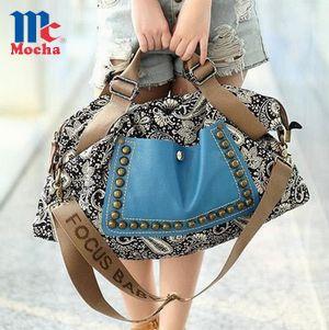 2015 New design!!! Fashion retro canvas women shoulder bag Vintage women pu leather handbag Casual women messenger bagFQ3300(China (Mainland))