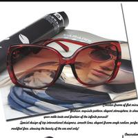 2014 new sun glasses for women large square frame sunglasses UV glasses women's eyewear accessories YJ5077
