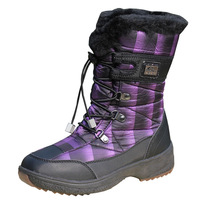 New slip-resistant waterproof snow boots wedges knee-high women's  winter shoes warm high quality for ladies 6 size 36-40