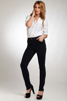 2014 Spring Women Plus SIze Jeans Pants Simple Was Slim Stretch Feet Pants  High Waist Jeans For Women