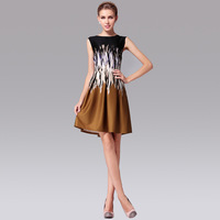 2014 New Fashion Sexy Casual Sleeveless Slash Neck Plus Size (S-XXL) Dress