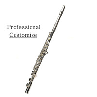 VECKY F211 Cupronickel silver plated 16 holes Flute  Opening  Obturator  Dualr Professional Level could custom