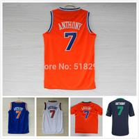New York 7 Carmelo Anthony Basketball Jerseys 2013-14 Carmelo Anthony Christmas Jersey 2014 All Star Basketball Jerseys S-XXL