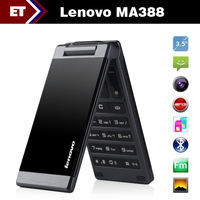 Original Lenovo MA388 GSM Cell Phone 3.5 inch 480x320 FM MP3 Dual SIM Card Dual Standby 0.3MP Camera Bluetooth Best For Old Man