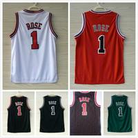 Chicago 1 Derrick Rose Jersey Cheap Basketball Jerseys Derrick Rose New Rev 30 Embroidery Logo Wholesale Camisetas Basketball