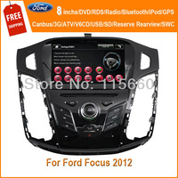 "Roadfeast 8"" car dvd Navigation for Ford Focus 2012 With GPS/bluetooth/Radio/IPOD/3G/SWC/Russian/Navitel map/Free EMS shipping"