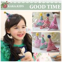10pcs/lot  Children AB-dimensional triangular hat hairpin /hair accessories
